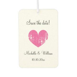 Custom save the date wedding car air freshener