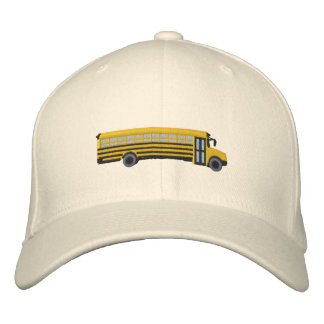 Custom School Bus Embroidery Embroidered Hat