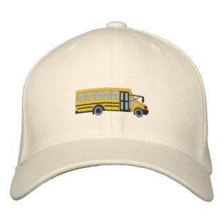 Custom School Mini Bus Embroidery Embroidered Hat