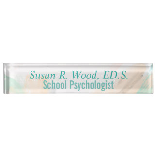 Custom School Psychologist Abstract Nameplate