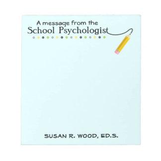 Custom School Psychologist's Note Pad