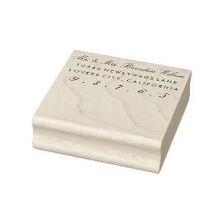 Custom Script Elegant Return Address Stamp