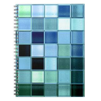 custom Sea Glass Mosaic  square pattern notebook