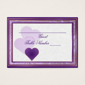 Custom Shades of Lavender and Purple Table Seating Business Card