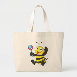 Custom Shirts Baby with Rattle Bee Shirts Tote Bag