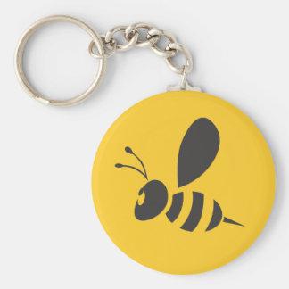 Custom Shirts :  Elegant Bee Icon Shirts Basic Round Button Key Ring