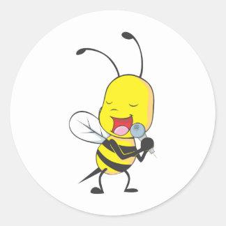 Custom Shirts Singing Bee Shirts Round Sticker