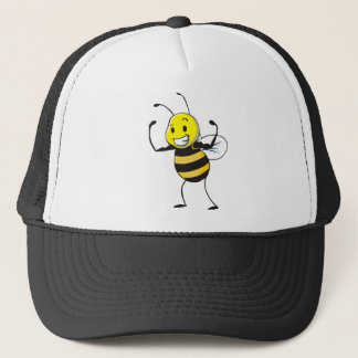 Custom Shirts : Strong Muscular Bee Shirts Trucker Hat
