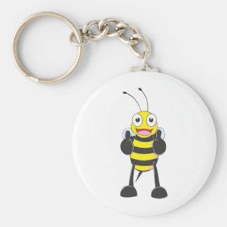 Custom Shirts : Thumbs up Bee Shirts Basic Round Button Key Ring