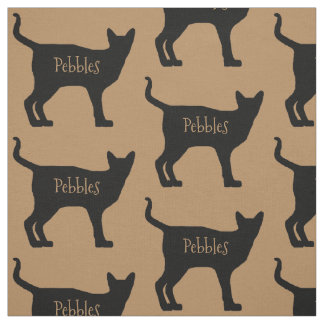 Custom Siamese Cat Fabric