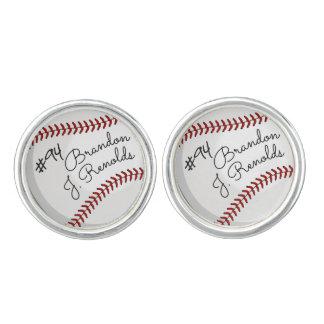 Custom Signature Baseball Cuff Links