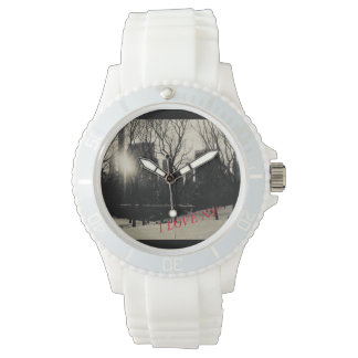 Custom Silicon watch I love NY Watch