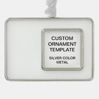Custom Silver Color Christmas Ornament Template