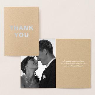 Custom Silver Foil Wedding Thank You Notes Foil Card