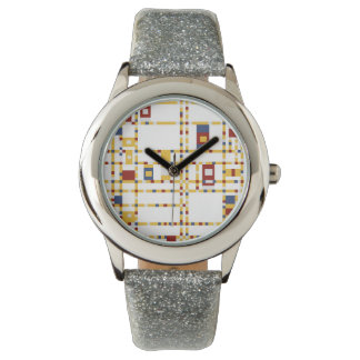 Custom Silver Glitter Watch