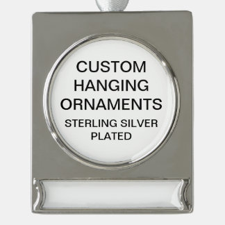 Custom Silver Plated Christmas Tree Ornament Blank