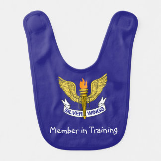 Custom Silver Wings Bib