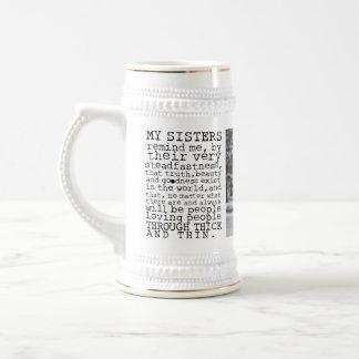 Custom Sisters Beer Stein By Zazz_it