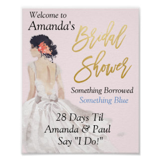 CUSTOM SIZE - Bridal Shower Sign
