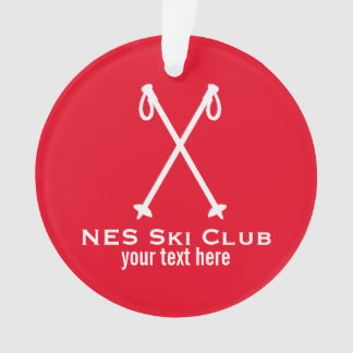 Custom Skiing Nordic Alpine Ski Pole Ski Team Ornament