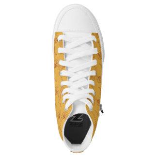 Custom Skull Moon High Top Shoes