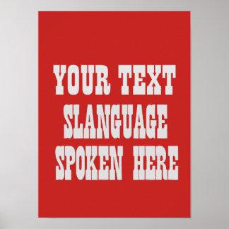 Custom slanguage poster