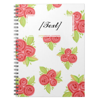 Custom Small Red Roses Notebook