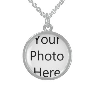 Custom Small Sterling Silver Round Necklace