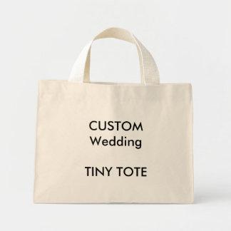 "Custom Small ""Tiny"" Totes - NATURAL Mini Tote Bag"