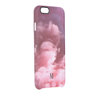 Custom Smoke effect pink art design Clear iPhone 6/6S Case