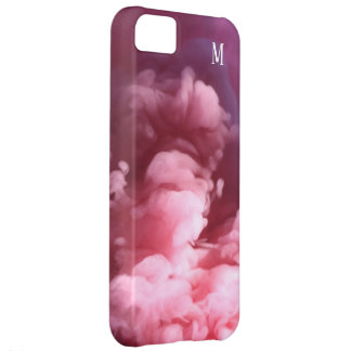 Custom Smoke effect pink art design iPhone 5C Case