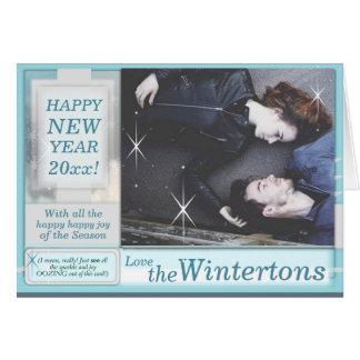 Custom *Snarky* New Year's themed PHOTO card