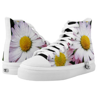 Custom sneakers pretty daisies