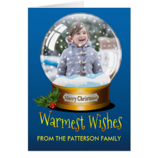 Custom Snow Globe Christmas Photo Template Holiday