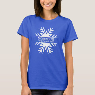 Custom Snowflake Family Christmas Reunion Trip T-Shirt