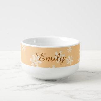 Custom Snowflakes Soup Mug