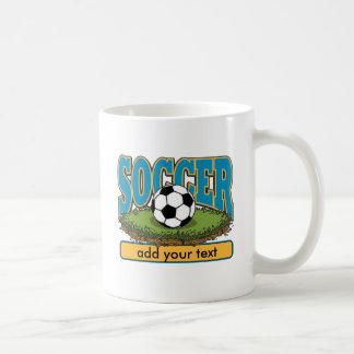 Custom Soccer Add Text Basic White Mug