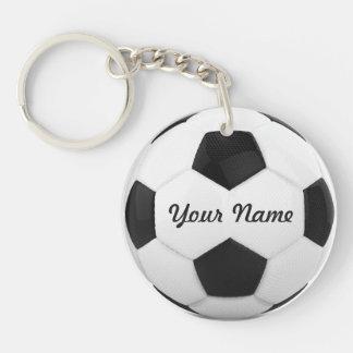 Custom Soccer Ball Single-Sided Round Acrylic Key Ring