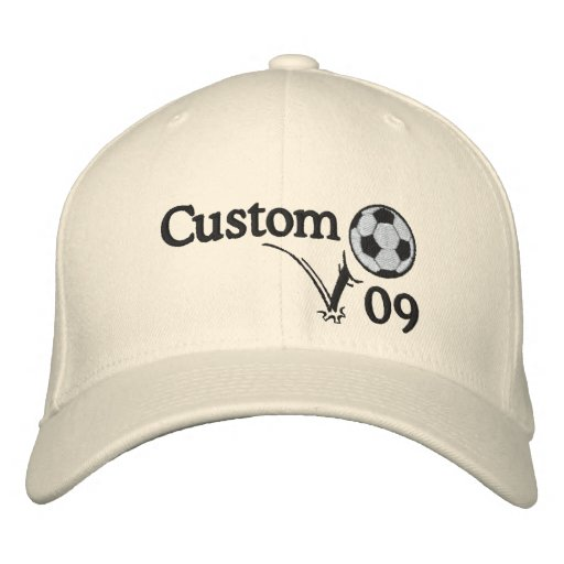 Custom Soccer Hat For Coach, For Team or Player!! Embroidered Baseball Caps