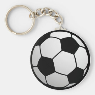 Custom SoccerBall for soccer Teams and Soccer Fans Basic Round Button Key Ring
