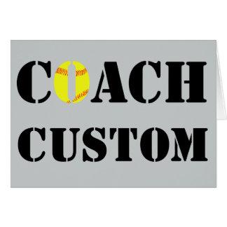 Custom Softball Coach Greeting/Thank You Card