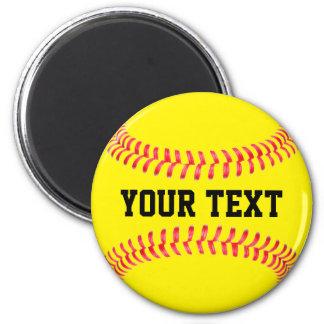 Custom Softball Magnet