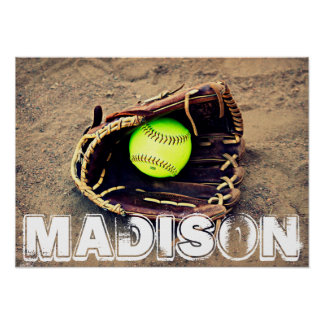 Custom Softball Poster
