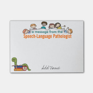Custom Speech-Language Pathologist Sticky Notes