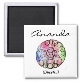 Custom Spiritual Name Magnet: Flower of Life Square Magnet