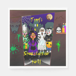 Custom Spook-tackular Halloween Party Disposable Serviette