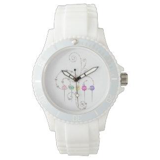 Custom Sporty White Silicon Watch