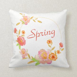 Custom Spring Summer Floral Pillow