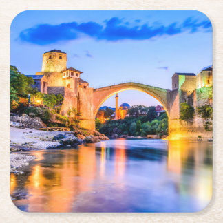 Custom Square Coasters Mostar