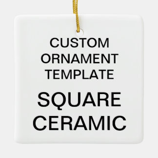 Custom Square Porcelain Christmas Tree Ornament
